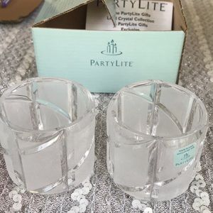 🇺🇸 PartyLite crystal Counterpoint candle holders